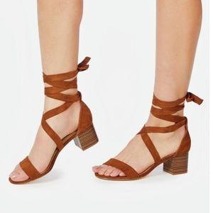 Just fab strappy block heel sandal